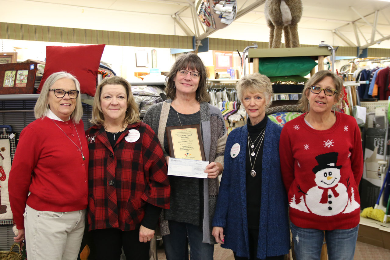 Volunteers at Tossed and Found Boutique in Longville, Minn.